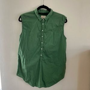 Boy by Band of Outsiders Button Down Blouse Tank